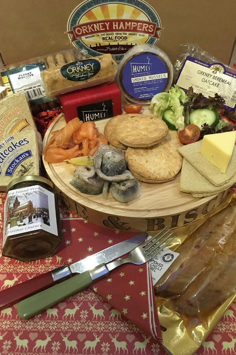 Christmas Orkney Seafood, Cheese, Chutney and Biscuit Box £89.95 Code 27 ( week 3 )