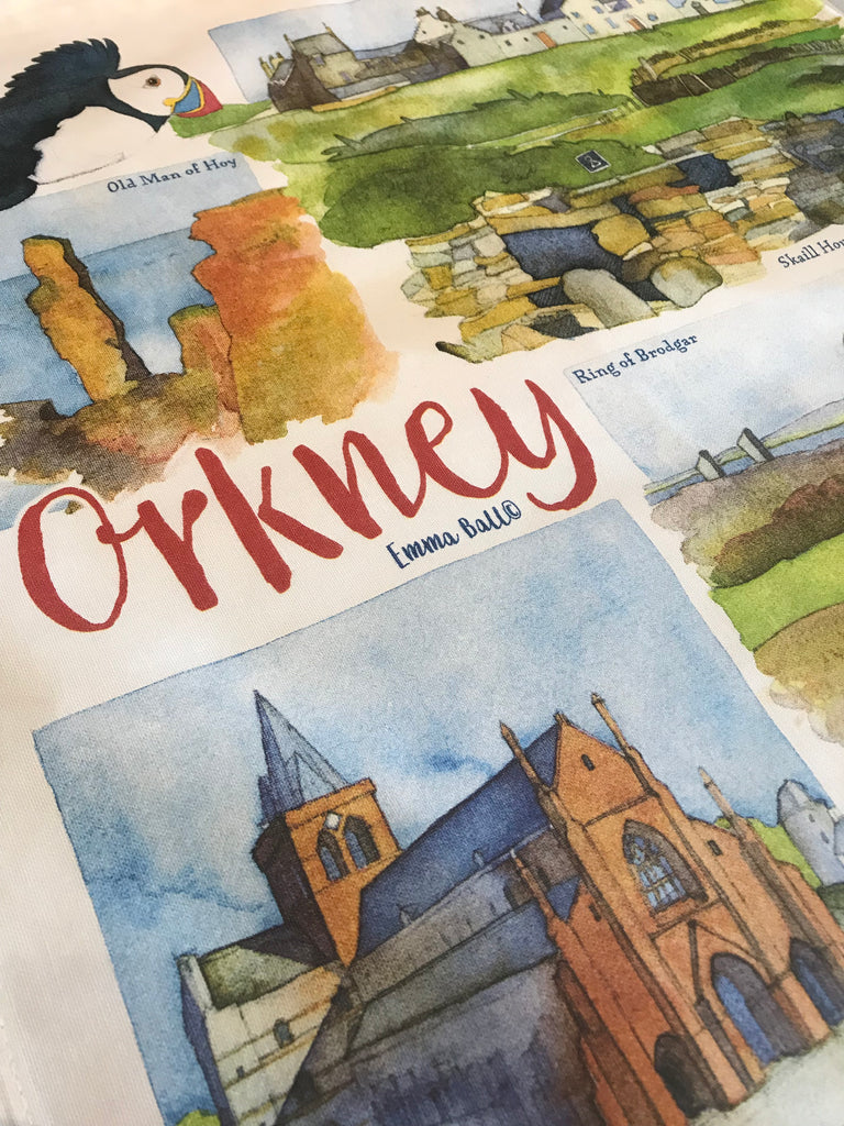 Emma Ball 'Orkney' Tea Towel £9.95