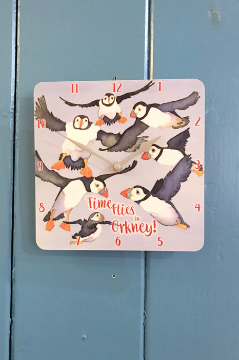 Emma Ball 'Time flies in Orkney' Wall Clock £24.95