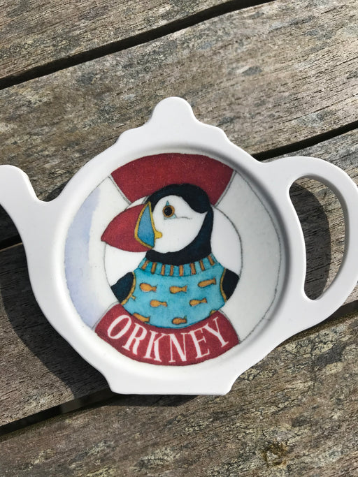 Emma Ball Orkney Puffin Teabag Tidy £3.95
