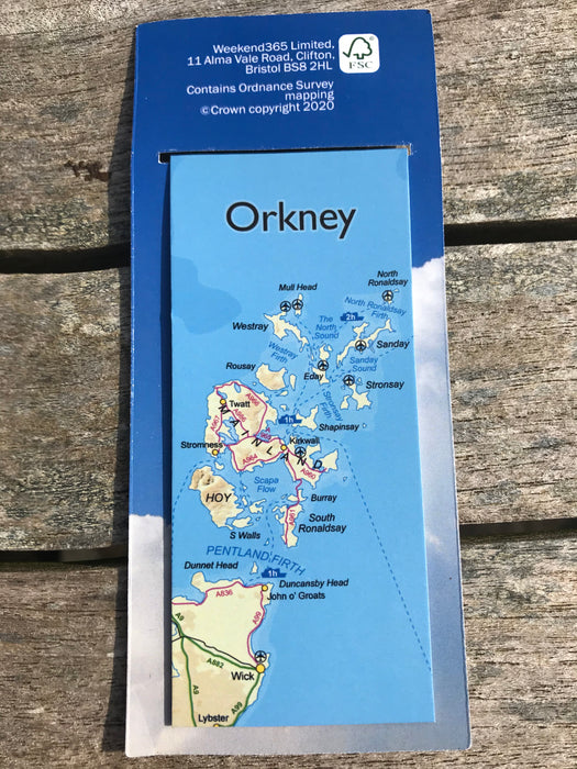 Handy Magnetic 'Orkney Map' Bookmark £3.50