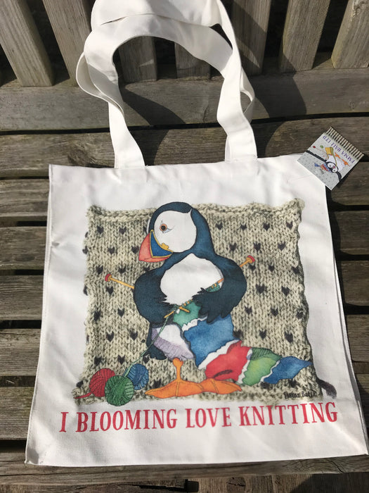 Emma Ball 'I Blooming Love Knitting' Canvas Bag £14.95
