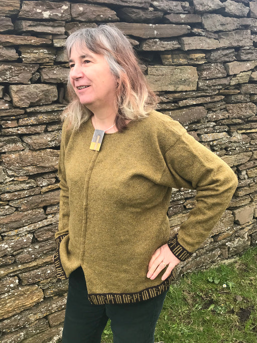 15% OFF Orkney Tunic with Runes Trims in Lichen WAS £115.00 NOW £97.95
