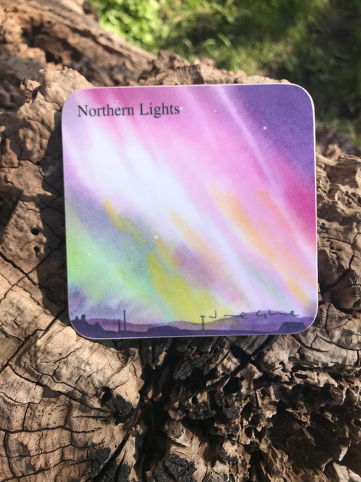 Jane Glue 'Northern Lights' Coaster £3.50
