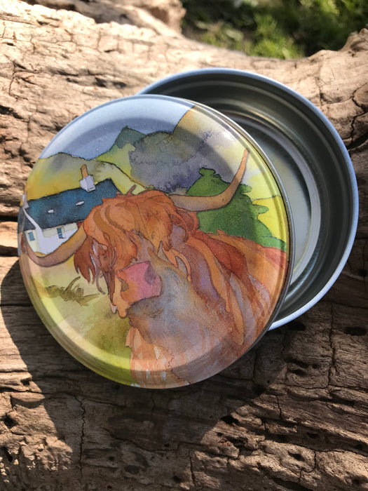 Highland Cow Round Tin  £4.95
