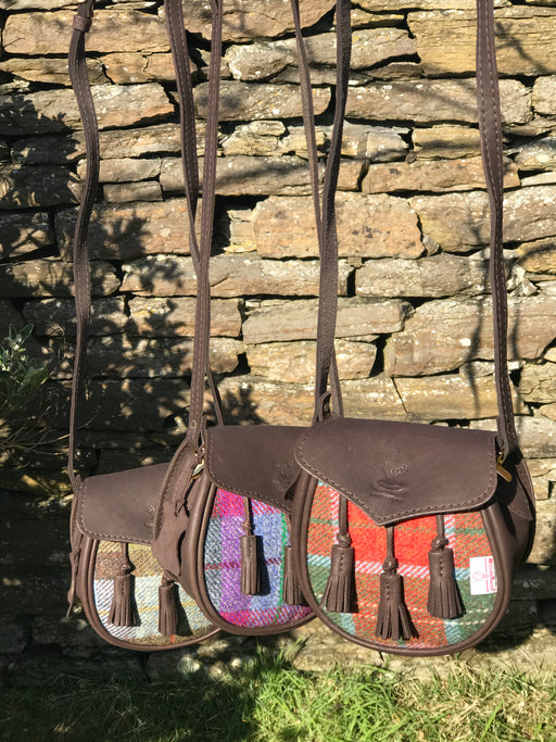 Funky Harris Tweed and Leather Kilt Bags £99.95