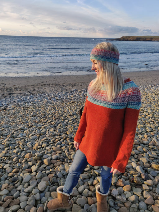 Annie Glue Yoke Jumper in funky Fair isle £149.95