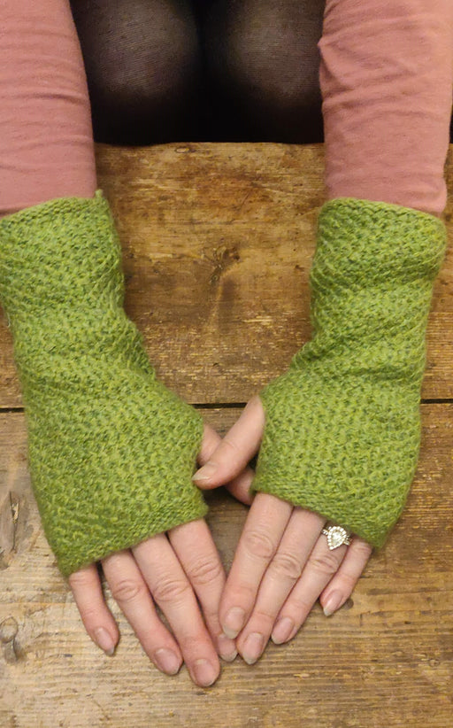 15% OFF Annie Glue Textured Hand Warmers in  Lime WAS £19.95 NOW £17.00