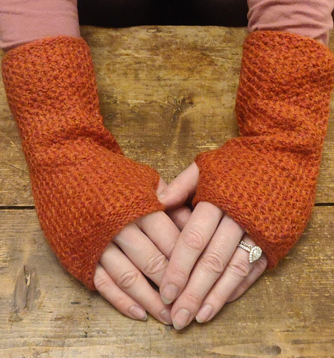 15% OFF Annie Glue Textured Hand Warmers in  Rust WAS £19.95 NOW £17.00
