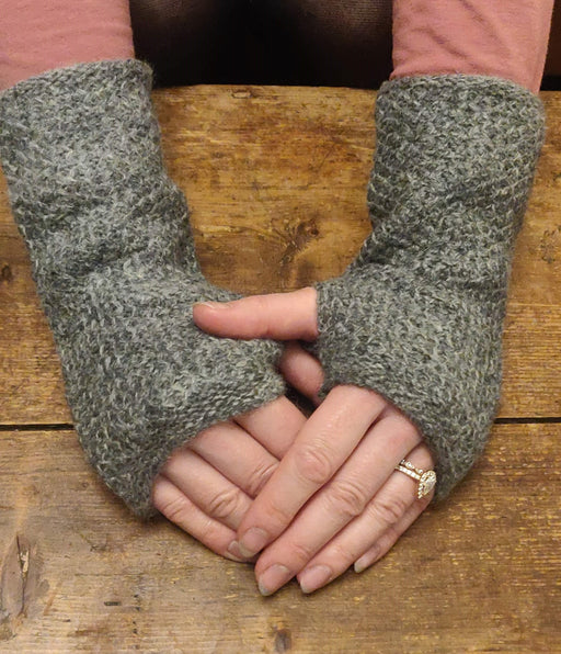 15% OFF Annie Glue Textured Hand Warmers in Soft Grey WAS £19.95 NOW £17.00