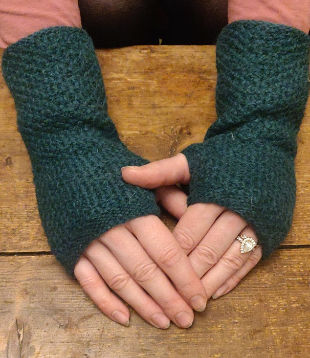 15% OFF Annie Glue Textured Hand Warmers in Forest Green WAS £19.95 NOW £17.00