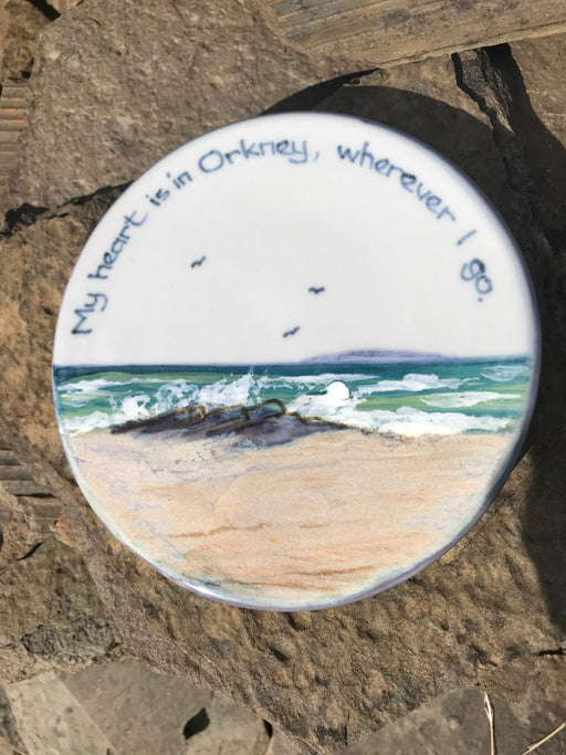 "Highland Stoneware ""My Heart is in Orkney"" -Pot Trivet £37.95"