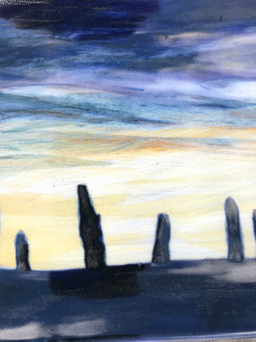 Highland Stoneware Ring of Brodgar Purple Sunset One Off Rectangle Plate £99.00