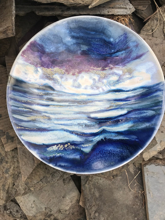 Highland Stoneware Purple Sunset with Sea One Off Bowl £110.95