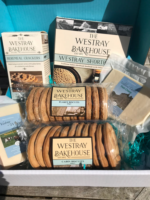 Westray Cheese, Biscuit and Shortbread Box ORKNEY DELIVERY ONLY £35.00 Code C