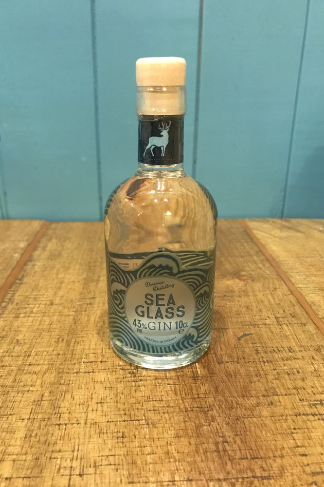 Deerness Distillery Gin - Sea Glass Miniature 10cl £10.99 with gin mat