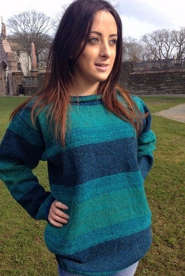 Judith Glue Orkney View Rollneck Sweater in Pentland Spray  £139.95