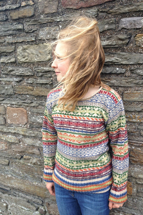 15% OFF Rackwick Fair Isle Curlneck Short Sweater WAS £139.95 NOW £118.95