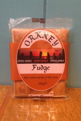 Orkney Stem Ginger Fudge 100g Bar £1.75