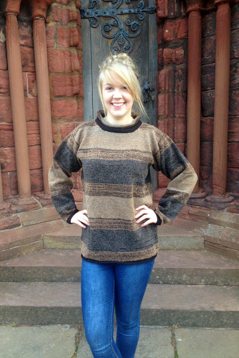 15% OFF Judith Glue Orkney View Rollneck Sweater in Peat WAS £139.95 NOW £118.95