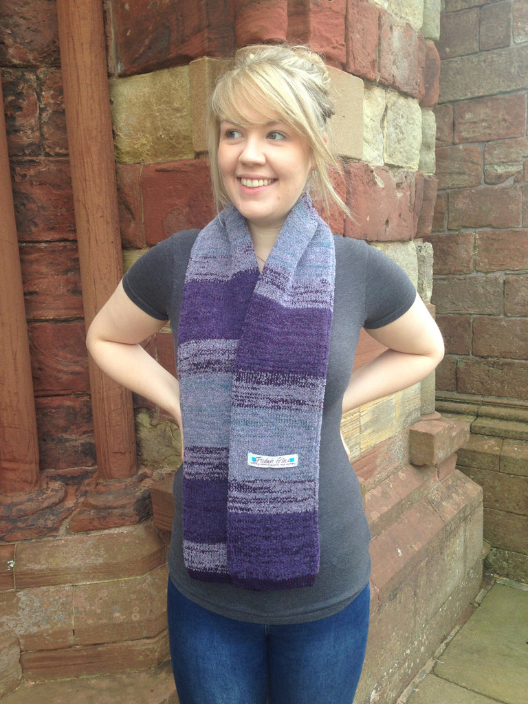 Judith Glue Orkney View Scarf in Heather £55.00