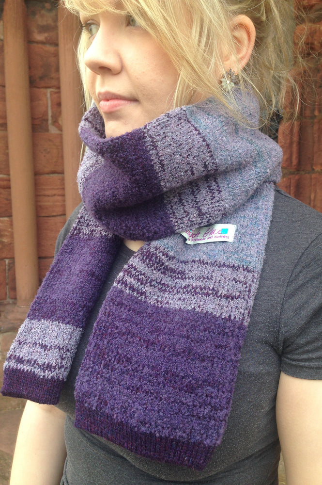 15% OFF Judith Glue Orkney View Scarf in Heather WAS £55.00 NOW £47.00