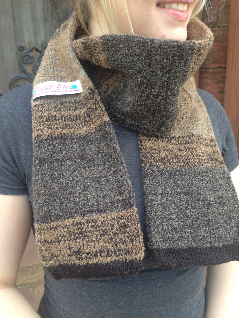 Judith Glue Orkney View Scarf in Peat £55.00