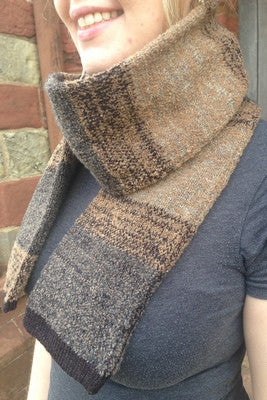 15% OFF Judith Glue Orkney View Scarf in Peat WAS £55.00 NOW £47.00