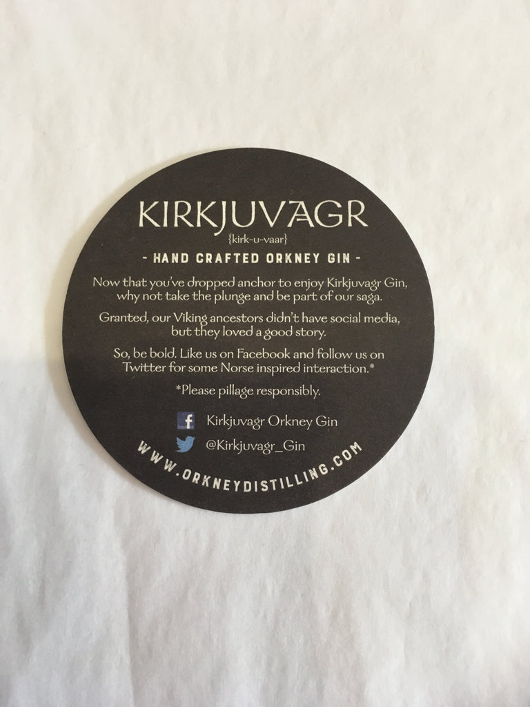 Kirkjuvagr Orkney Gin 70cl £39.99 with FREE Gin Mat