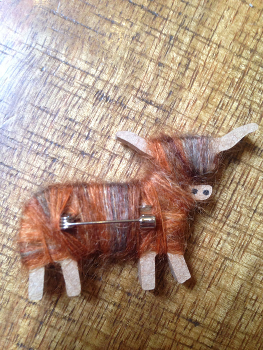 Hairy Coo Highland Cow Brooch £6.95