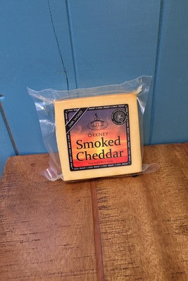 Island Smokery Dark Smoked White Cheddar Cheese £4.95