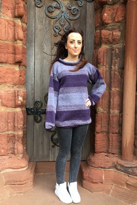 Judith Glue Orkney View Rollneck Sweater in Heather £139.95