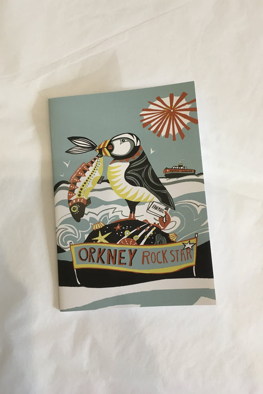 Port and Lemon Orkney Rock Star Puffin Notebook £4.95