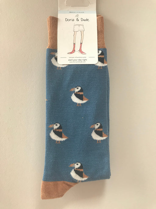 Doris & Dude Puffin Socks Size UK 11-14 ( EU  46-50 ) £5.95