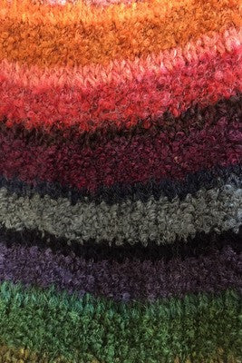 Rainbow Wide Scarf with Fringed Ends £59.95