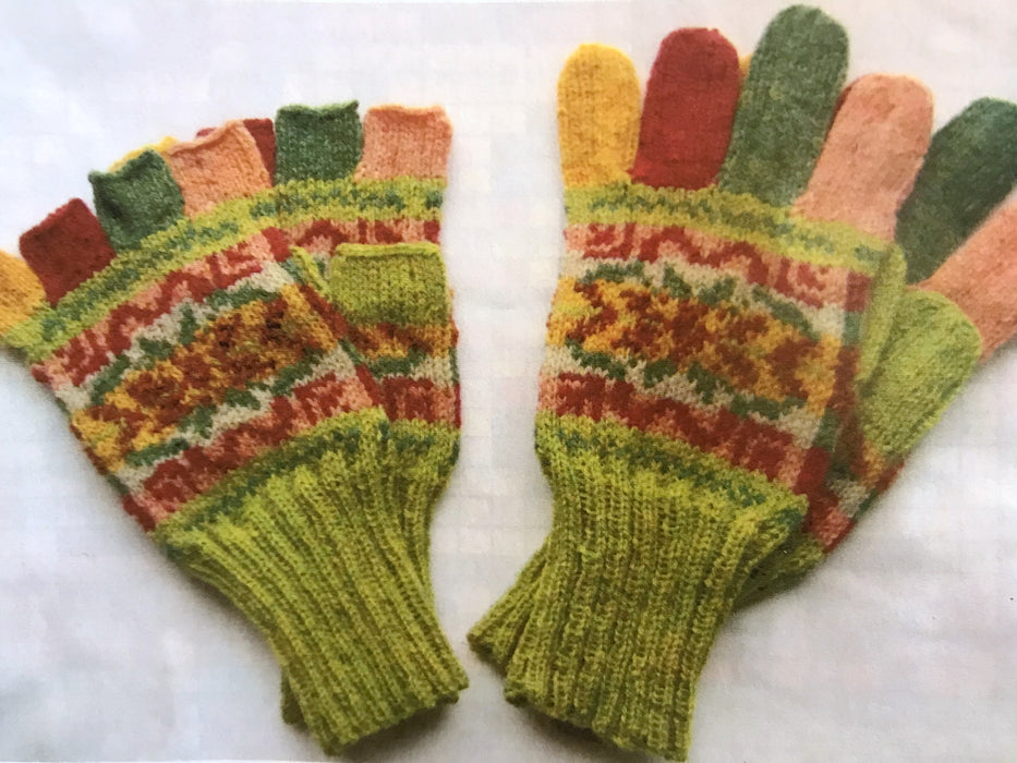 Judith Glue Fair Isle Pattern Gloves Knitting Kit in Landscape £18.95