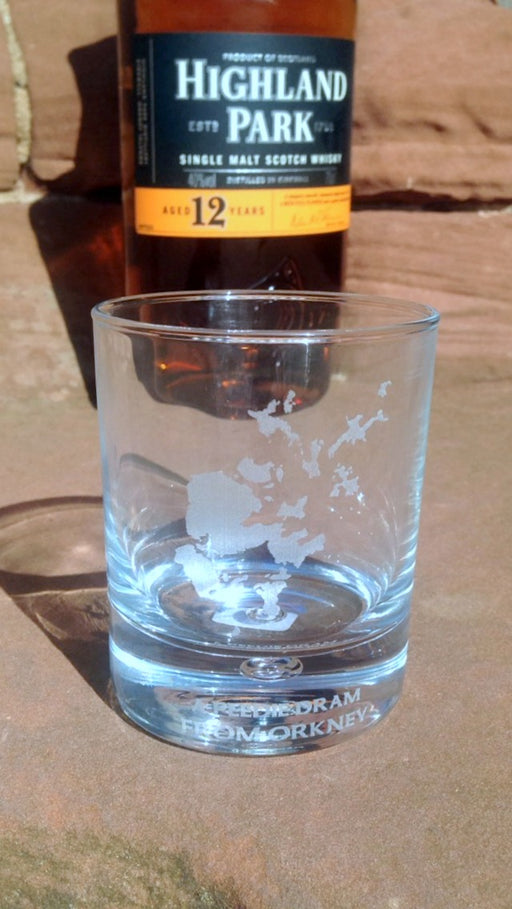 """A peedie dram from Orkney"" Whisky glass £9.95"