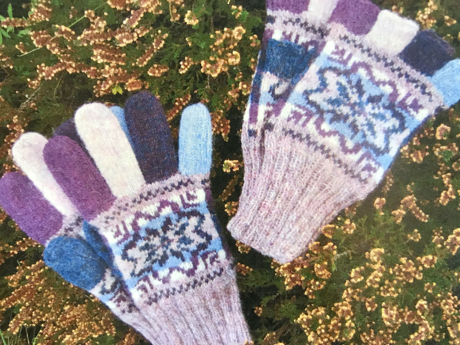 Judith Glue Fair Isle Gloves Knitting Kit in Heather £18.95