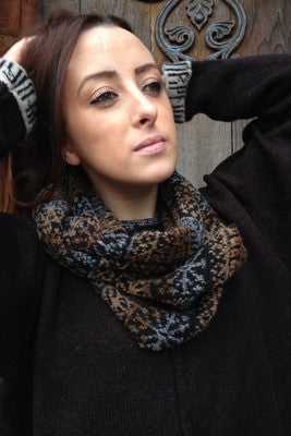 Annie Glue Brown Fair Isle Snood £54.95
