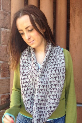 15% OFF Annie Glue Two Colour Blue Runic Snood WAS £39.95 NOW £34.00