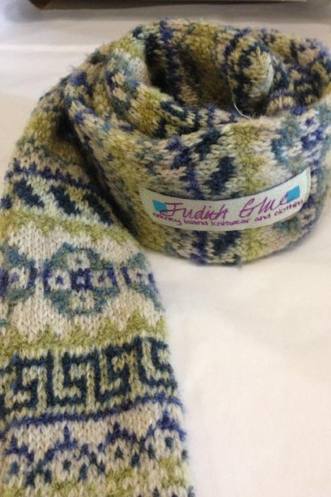 JudithGlue Peerie Throat warmer in Seascape  £39.95