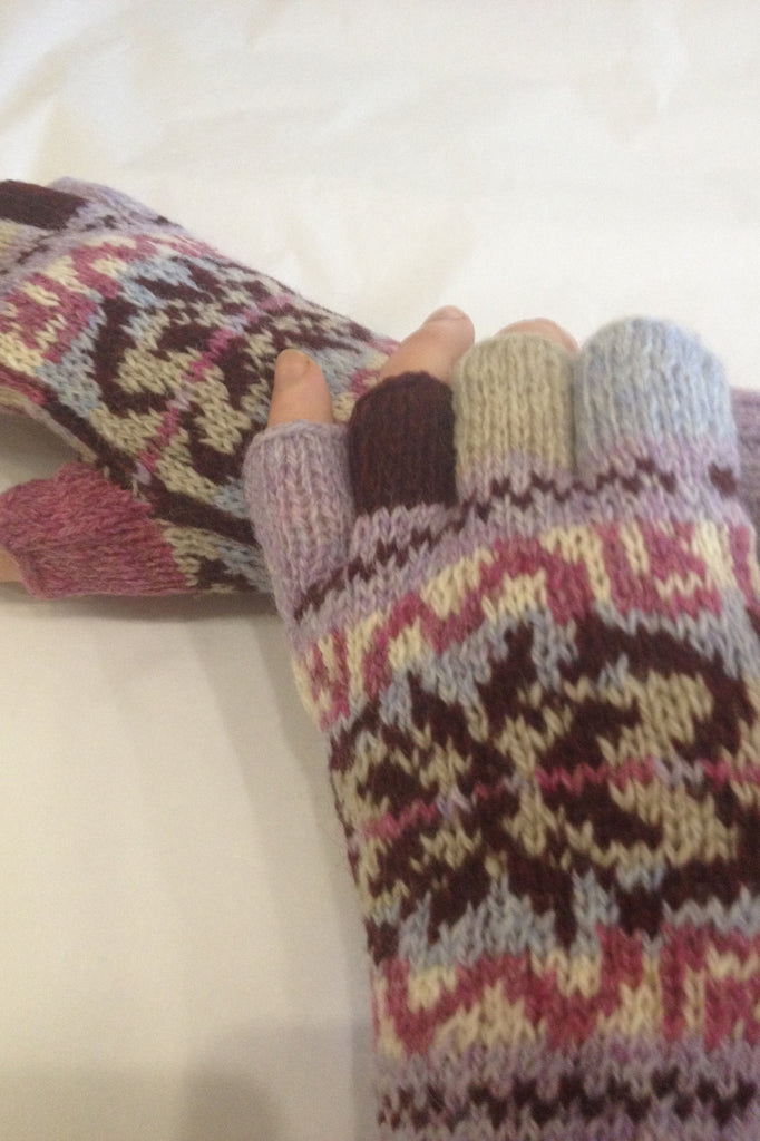 Judith Glue Hand Knitted Fair Isle Gloves £39.95