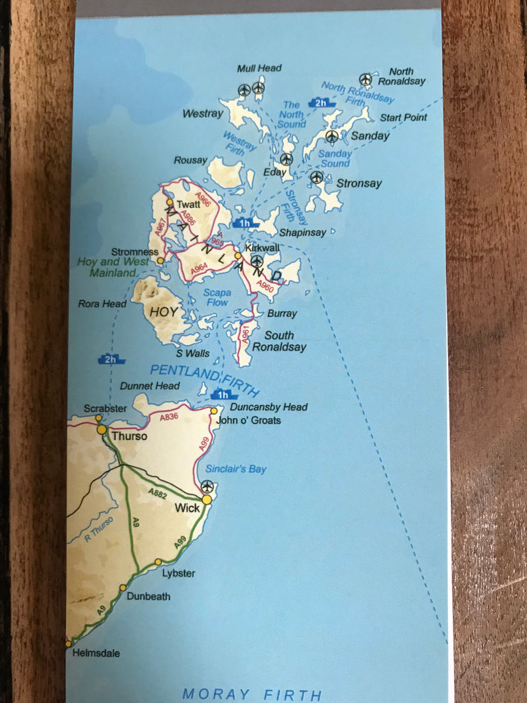 Judith Glue Orkney Map Magnetic Shopper Pad £6.95