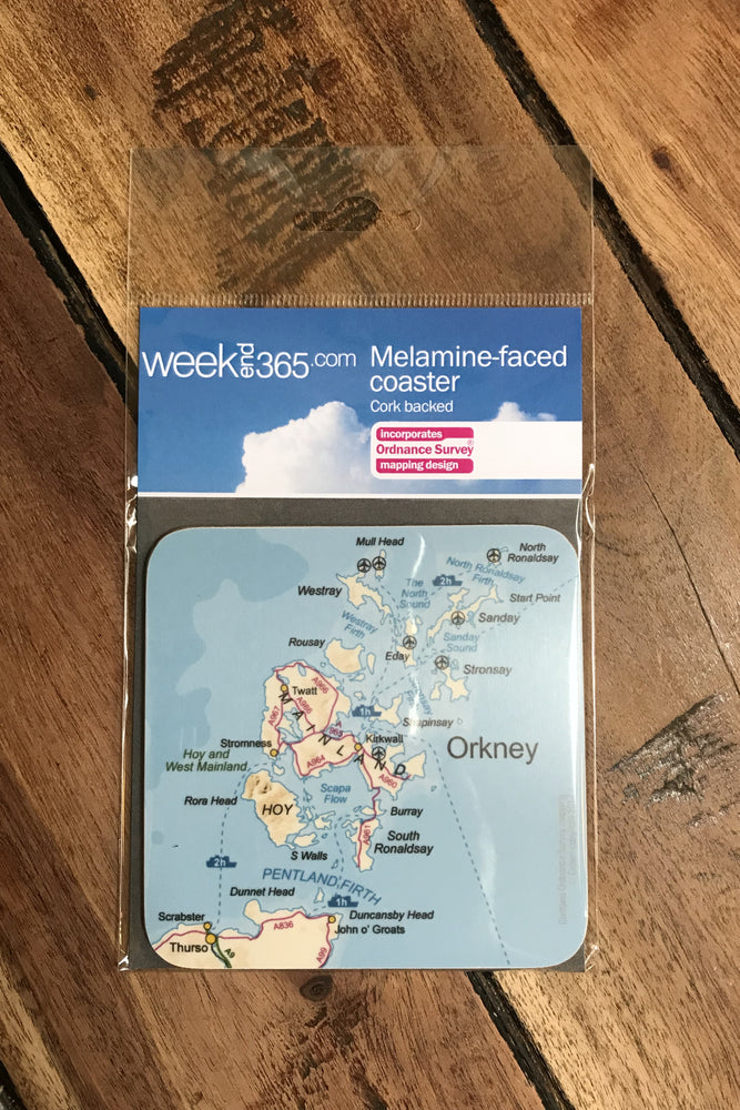 Orkney Map Coaster £4.95
