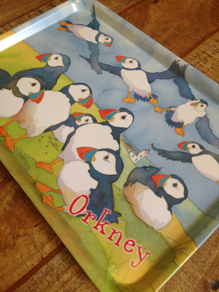 Emma Ball 'Orkney' Puffin Large Tray £18.95