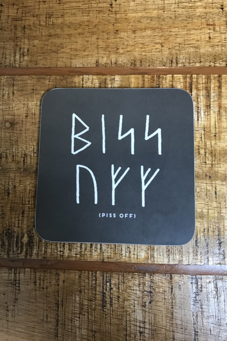 Orkney Viking Rude Runes Piss Off Coaster £4.50
