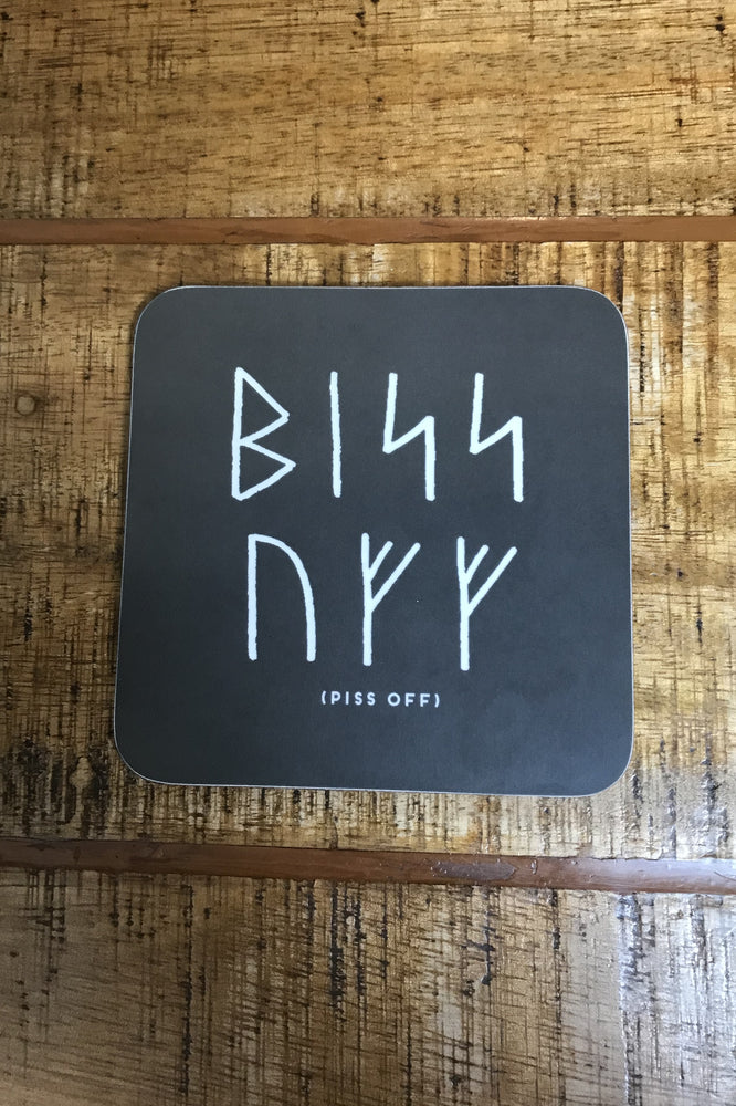 15% OFF Orkney Viking Rude Runes Piss Off Coaster was £4.50 now £3.85