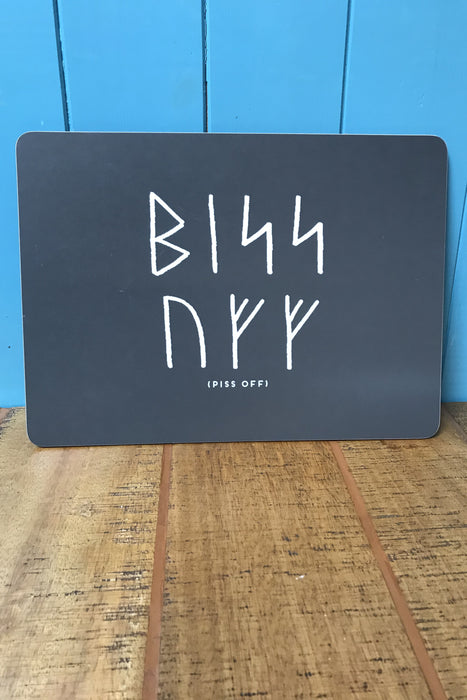 Orkney Viking Rude Runes Piss Off Large Placemat £9.95