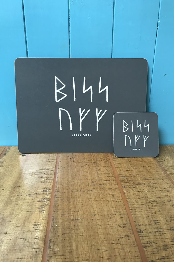 Orkney Viking Rude Runes Piss Off Placemat £9.95