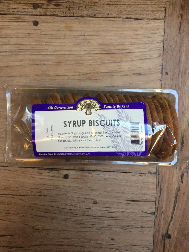 Orkney Bakery Syrup Biscuits